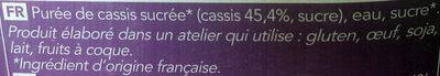 Pure Sélection Sorbet Le Cassis - Ingredients