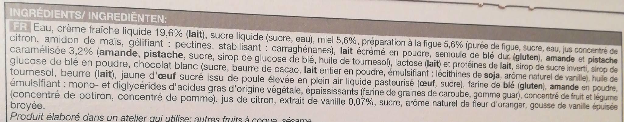 Bûche glacée vanille-miel - Ingrédients