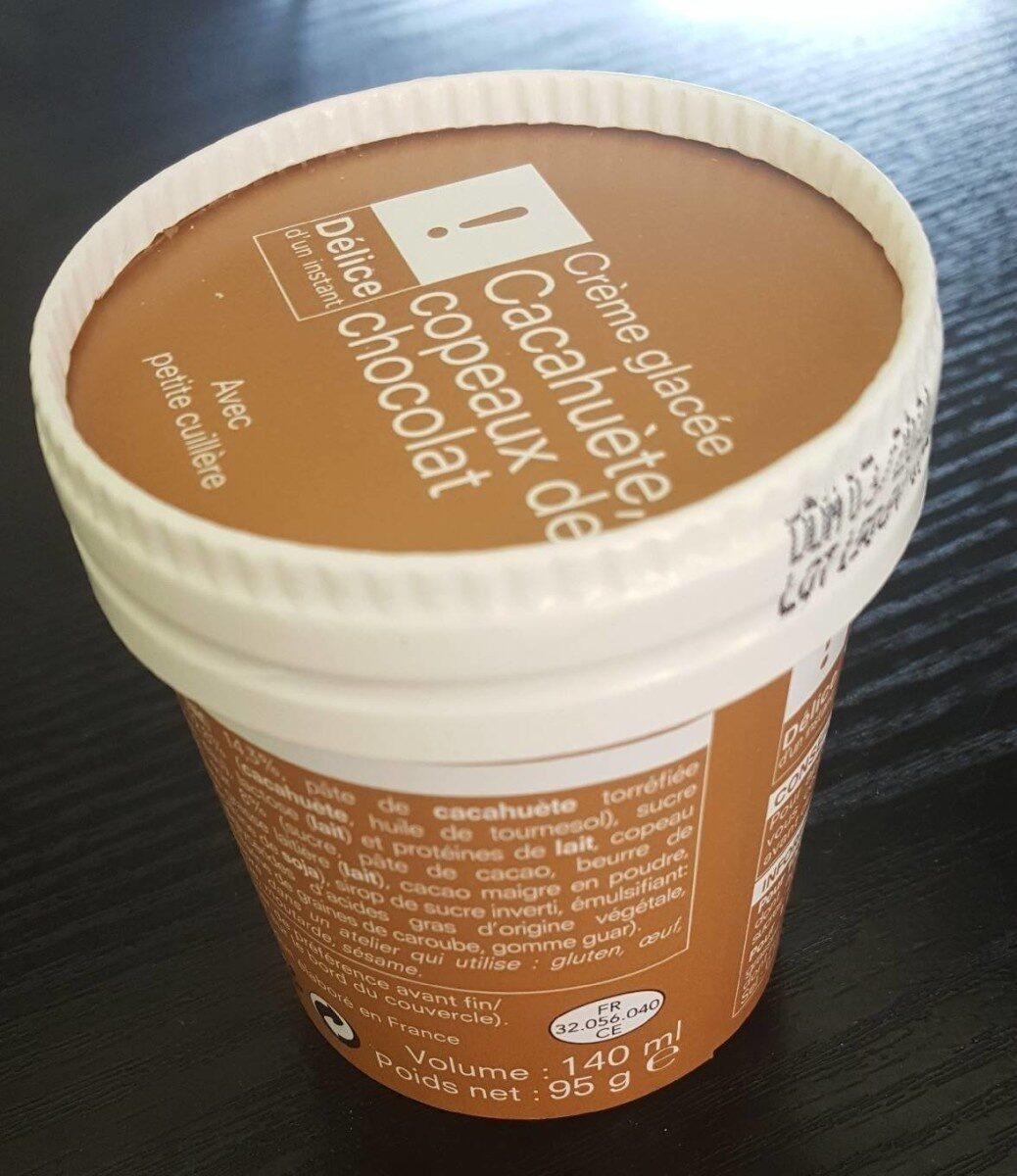 Crème glacée cacahuète copeaux de chocolat - Produit - fr