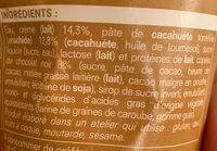 Crème glacée cacahuète copeaux de chocolat - Ingrédients - fr