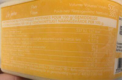 La poire - Informations nutritionnelles - fr