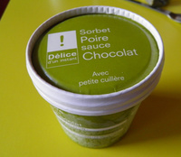 Sorbet Poire sauce Chocolat Picard - Product