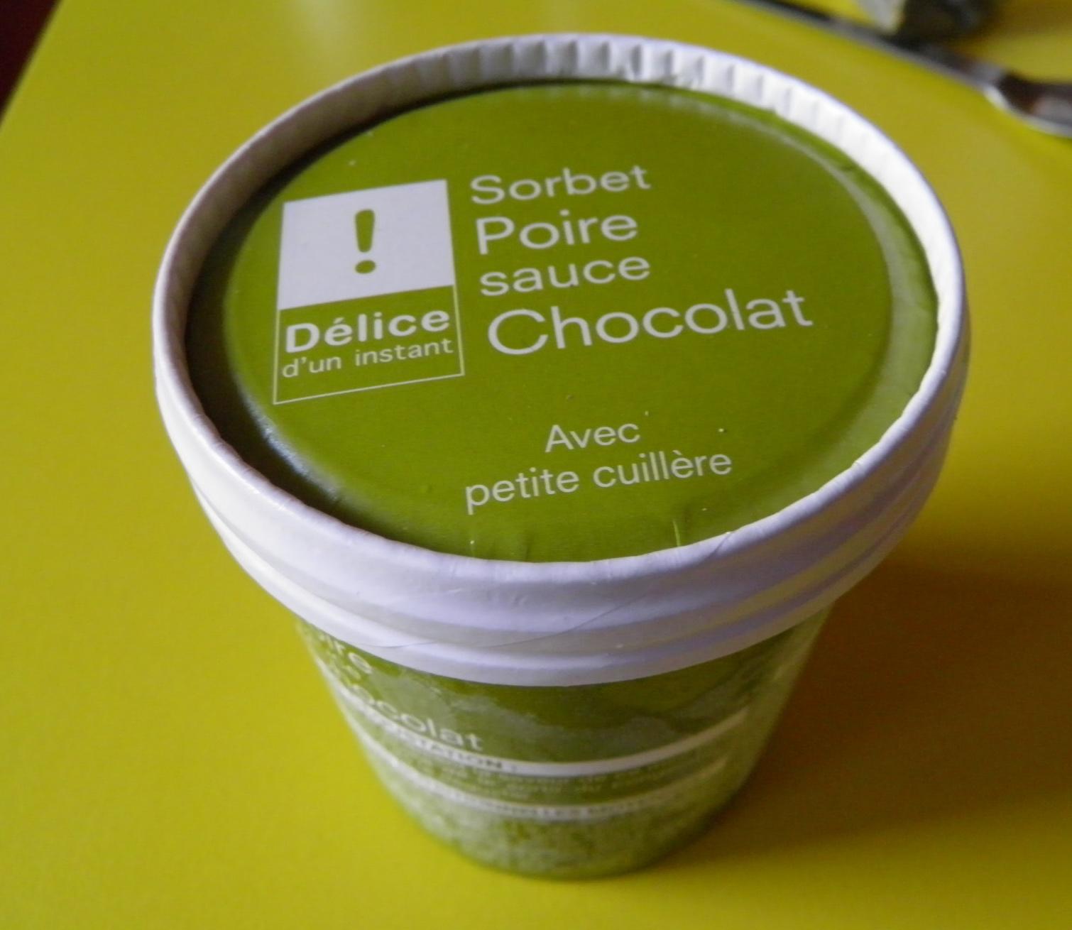 Sorbet Poire sauce Chocolat - Produit - fr