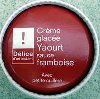 Crème glacée Yaourt sauce framboise - Product
