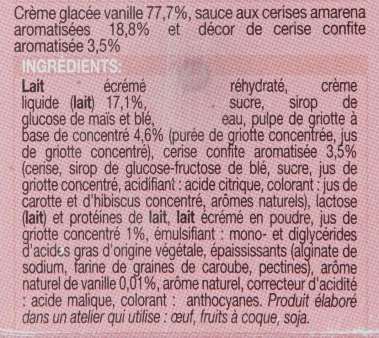 Les Glaces à l'Italienne : Amarena - Ingrediënten - fr