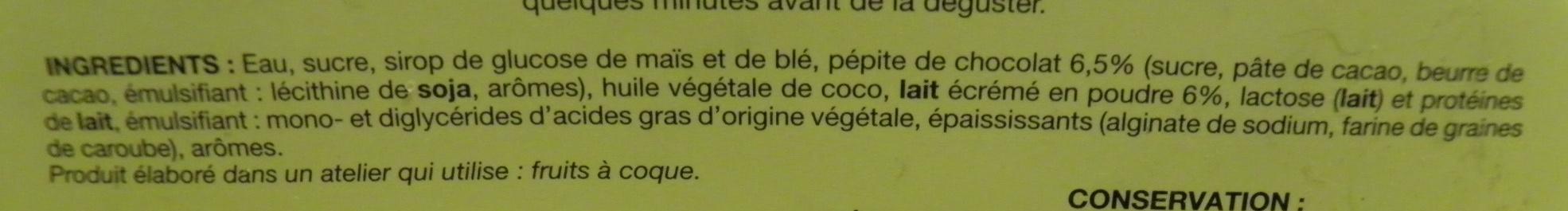 il gelato stracciatella Picard - Ingrédients - fr