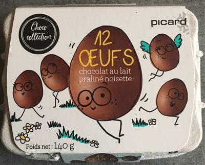 12 œufs chocolat au lait praliné noisette - Product