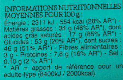 12 œufs chocolat au lait praliné noisette - Nutrition facts