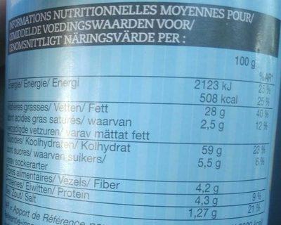 Tuiles Crème Oignons - Informations nutritionnelles - fr