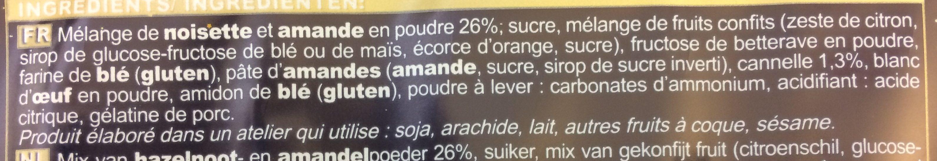 Biscuits Etoile Cannelle - Ingrédients - fr