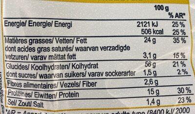 Croustillant a la cacahouete - Informations nutritionnelles - fr