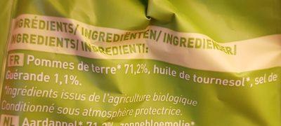 Chips de pommes de terre BIO au sel de guérande - Ingredients