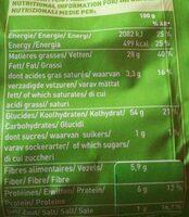 Chips de pommes de terre BIO au sel de guérande - Nutrition facts