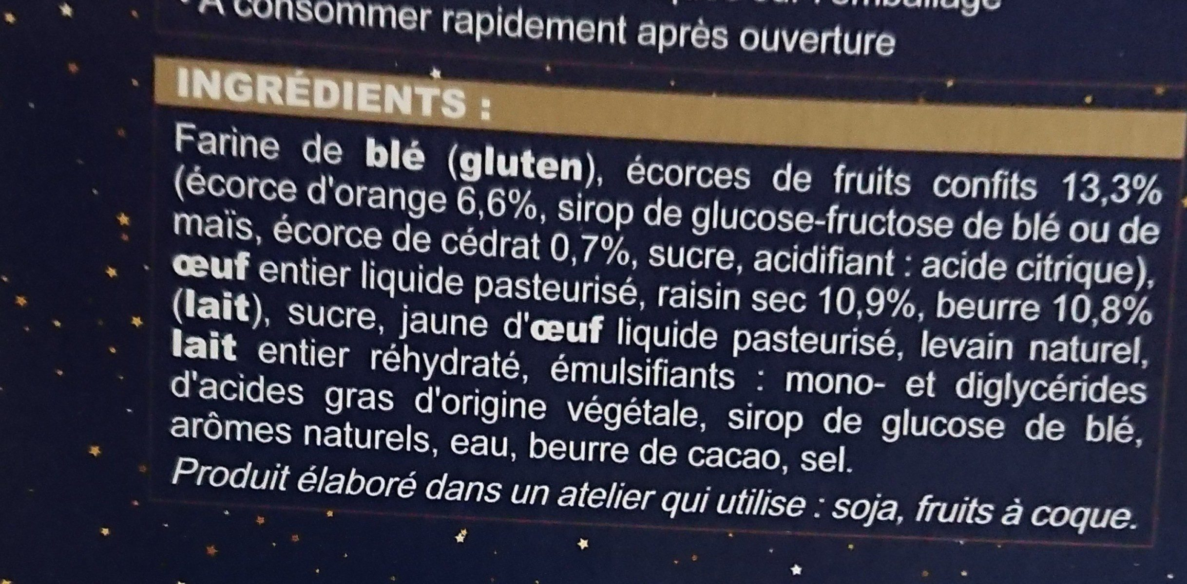 Mini-panettone - Ingrediënten - fr