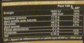 Mini-panettone - Voedingswaarden - fr