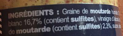 Moutarde a l'ancienne - Ingrédients - fr