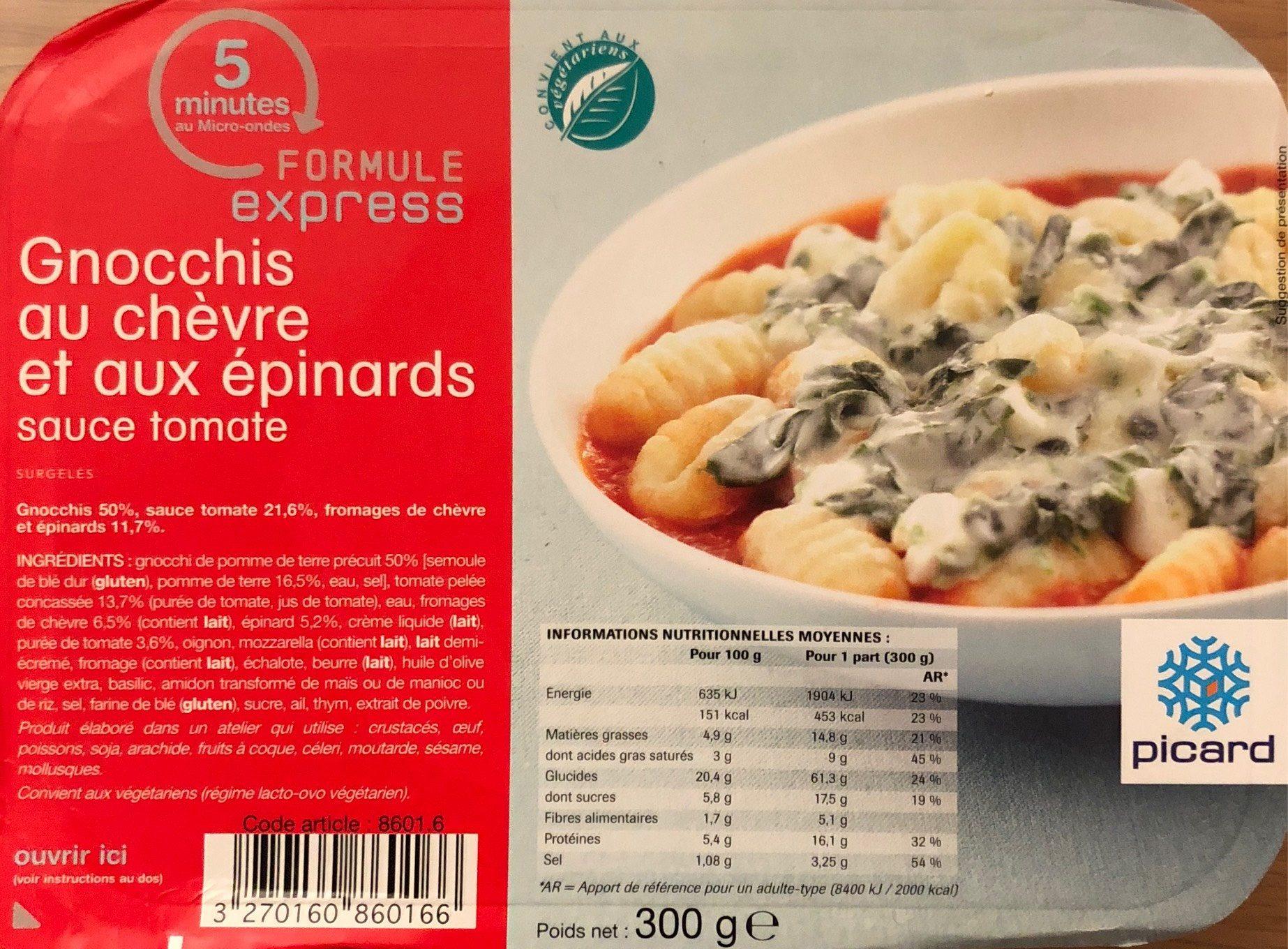 Gnocchis au chèvre et aux épinards - Produit