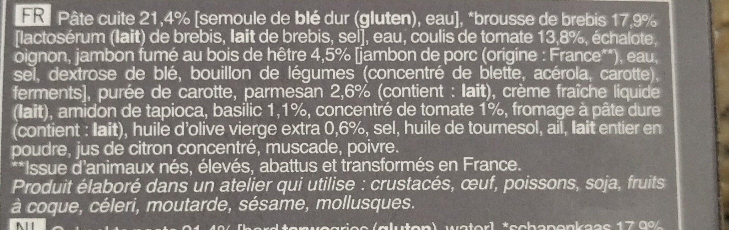 Gratin de conchiglioni - Ingrédients - fr
