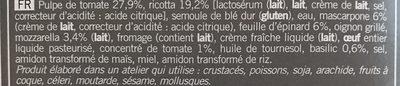 Cannelloni ricotta épinard et sauce tomate - Ingredients - fr