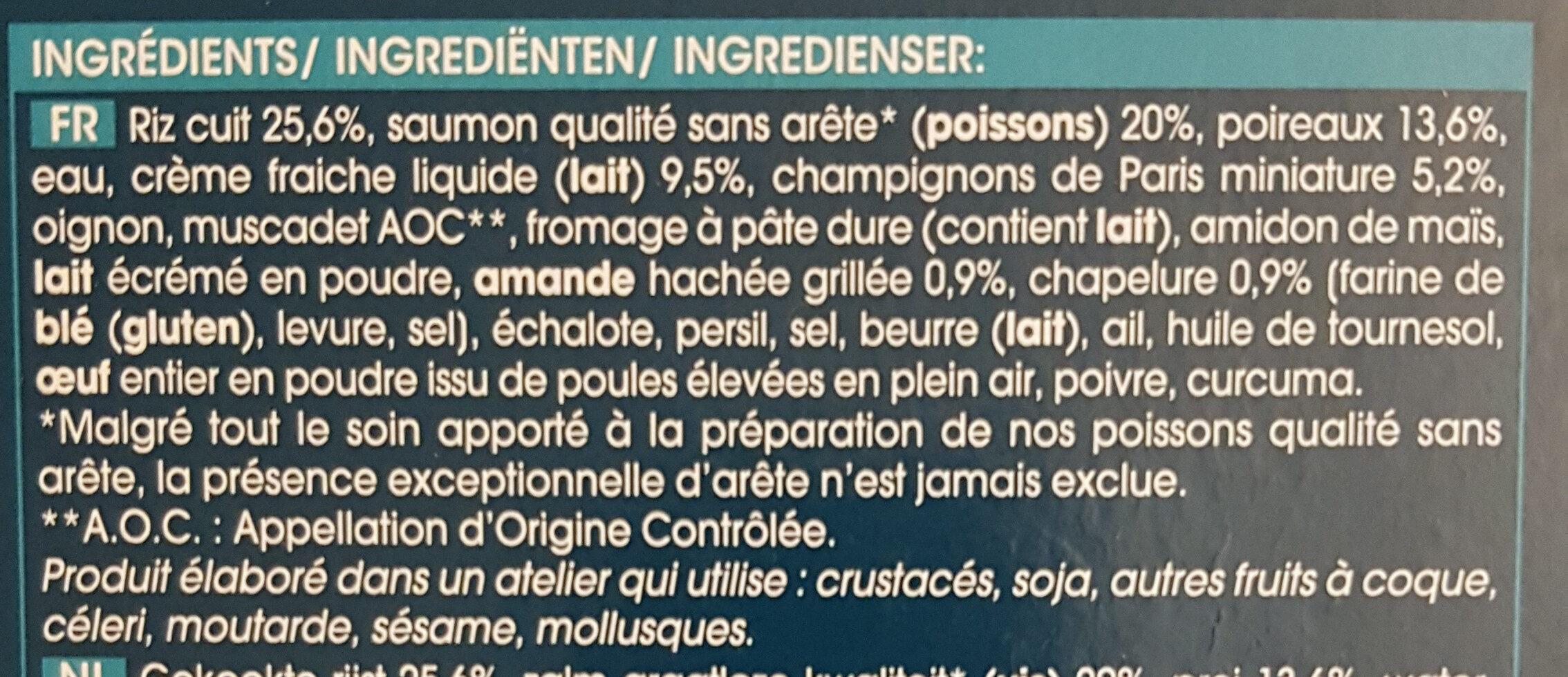 Saumon en croûte d'amande - Ingrédients - fr