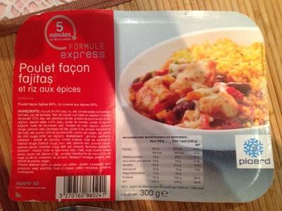 Poulet façon fajitas et riz aux épices - Produit