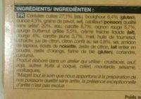 Cabillaud Légumes Glacés, Boulghour et Quinoa, Sauce au Citron Confit - Ingredients