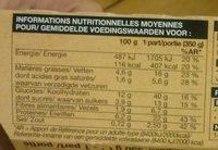 Cabillaud Légumes Glacés, Boulghour et Quinoa, Sauce au Citron Confit - Nutrition facts