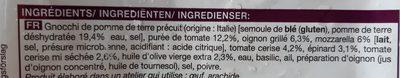 Poêlée de gnocchis (tomates, mozzarella) - Ingredienti - fr