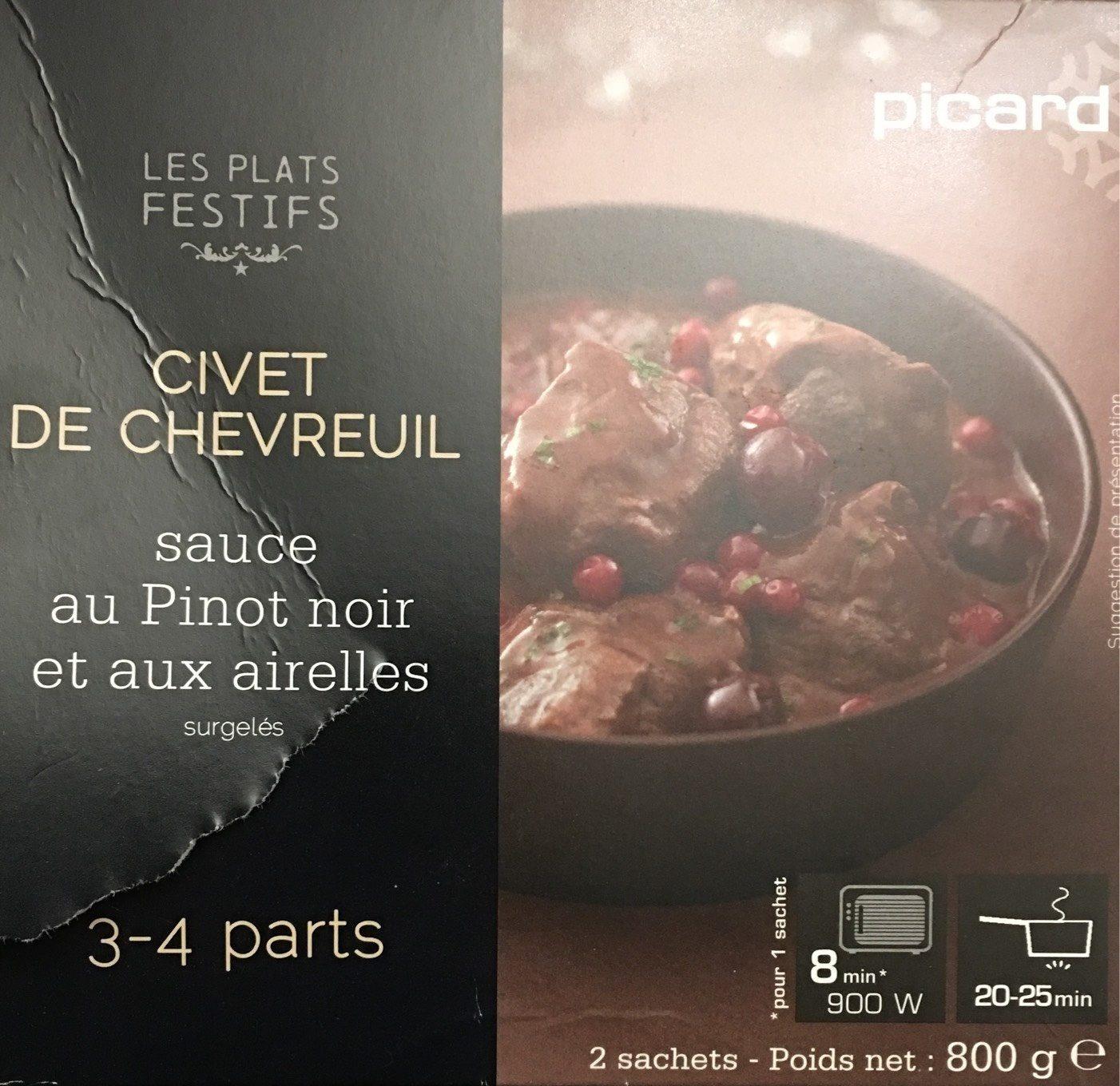 Civet de Chevreuil, Sauce au Pinot Noir et aux Airelles - Produit
