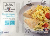 Poulet sauce Beaufort et pâtes aux oeufs surgelés - Product