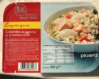 Colombo de poissons, riz et lentilles corail - Product
