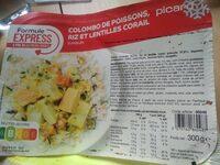 Colombo de poissons, riz et lentilles corail - Product - fr