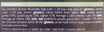 Risotto d'Orge et d'Avoine aux Légumes et au Chèvre - Ingredients