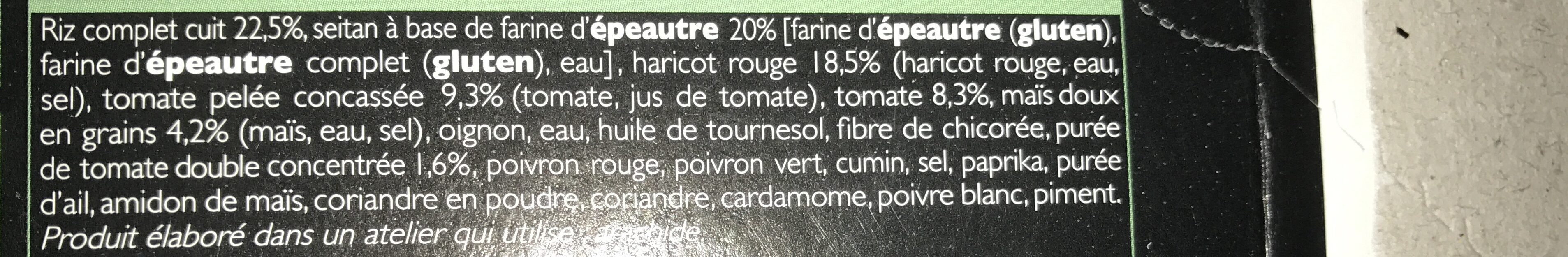 Chili sin Carne et Riz Veggie - Ingrédients