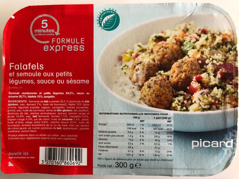 Falafels et semoule au petits légumes - Produit - fr