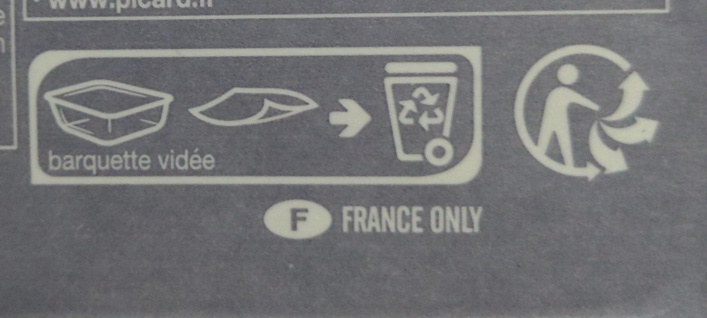 Chili con carne et riz - Istruzioni per il riciclaggio e/o informazioni sull'imballaggio - fr