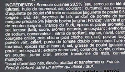 Couscous 400 g - Ingrédients