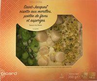 Saint-Jacques risotto aux morilles, poêlée de fèves et asperges - Produit - fr