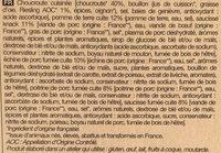 Choucroute au vin d'Alsace Riesling - Ingredients