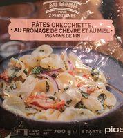 Pâtes Orecchiette au Fromage de Chèvre et au Miel, Pignons de Pin - Product