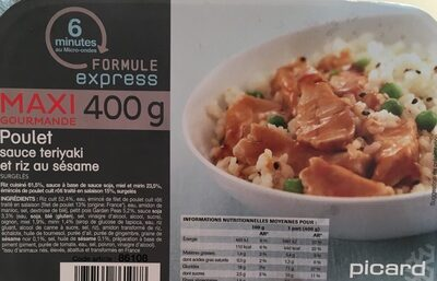 Poulet sauce teriyaki et riz au sesame - Prodotto - fr