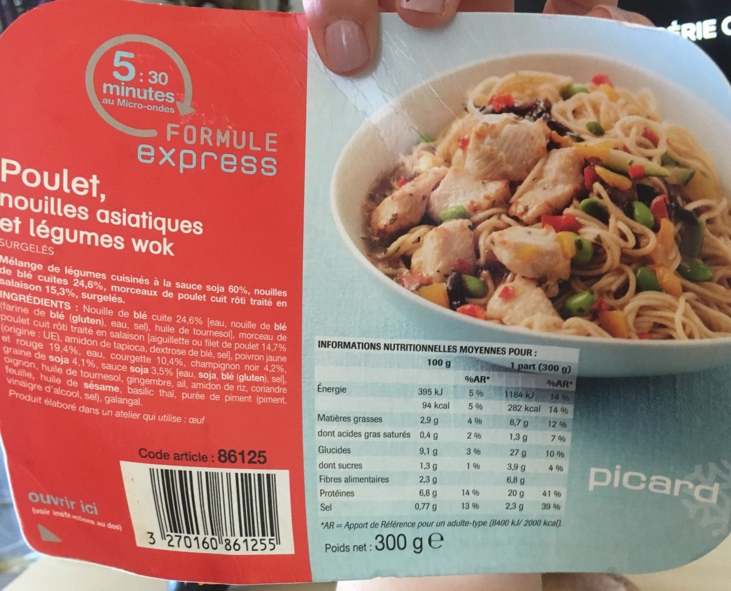 Poulet, Nouilles Asiatiques et Légumes Wok - Produit