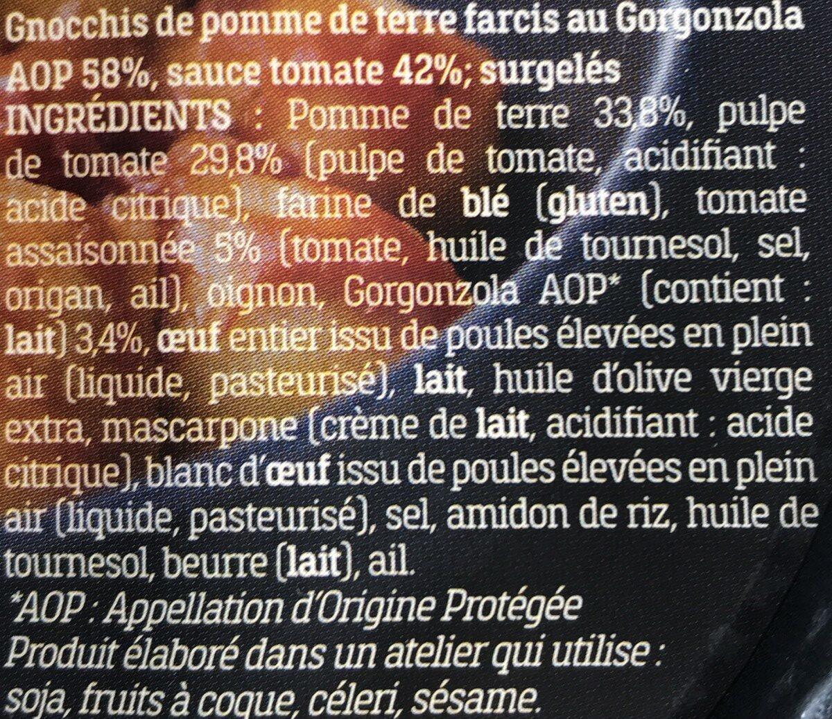 Gnocchi Farcis au Gorgonzola AOP et sauce Tomate - Ingredienti - fr