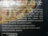 Spaghetti alle vongole - Ingrédients
