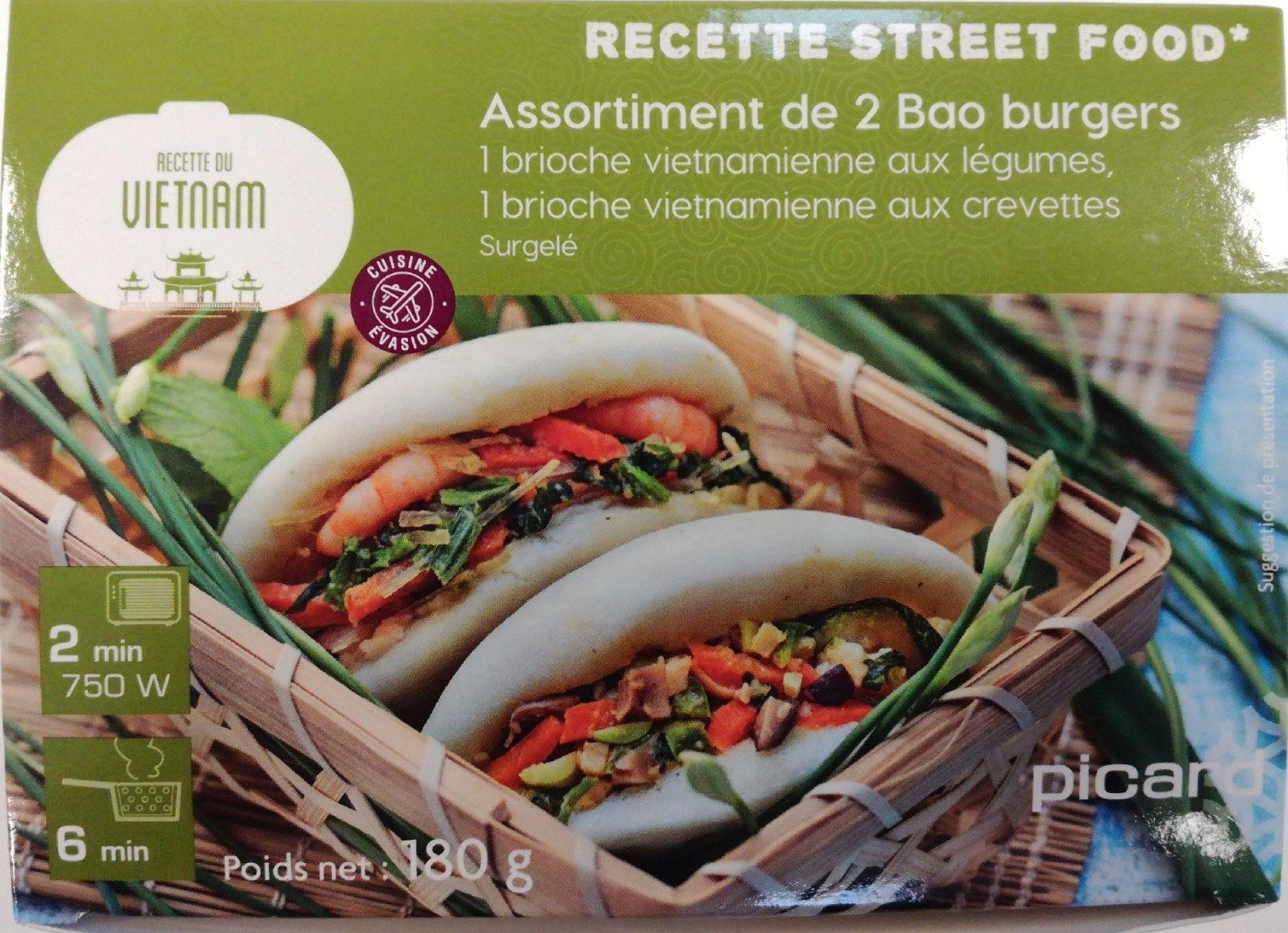 Assortiment de 2 Bao burgers - Produit