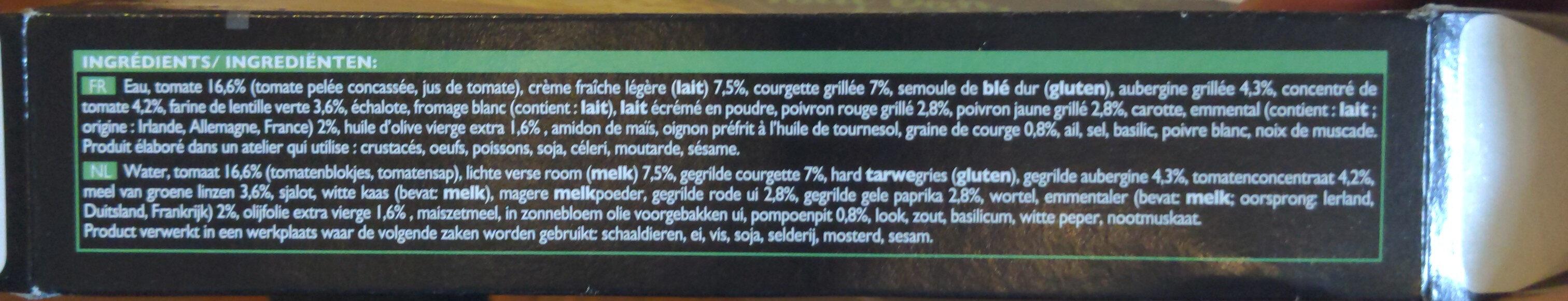 Lasagnes aux légumes - Ingredienti - fr