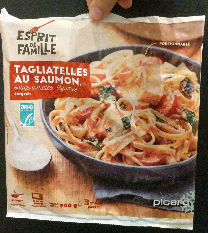 Tagliatelles au saumon sauce tomatée, légumes - Product - fr