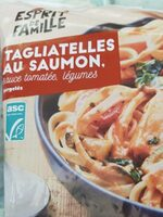 Tagliatelles au saumon sauce tomatée, légumes - Prodotto - fr