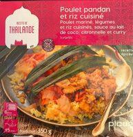 Poulet pandan et riz cuisiné - Produit - fr