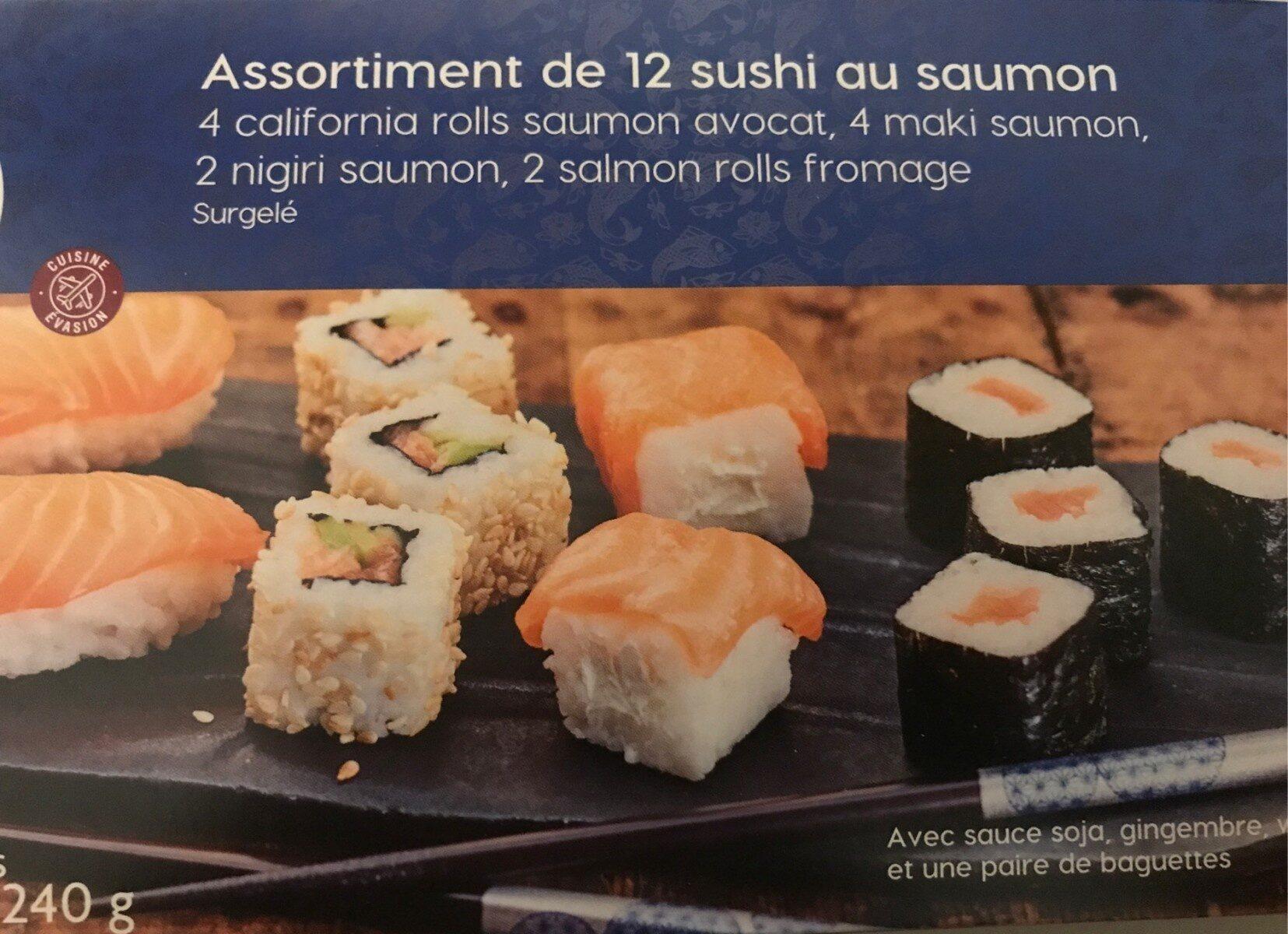 Assortiment de 12 sushi au saumon - Produit - fr